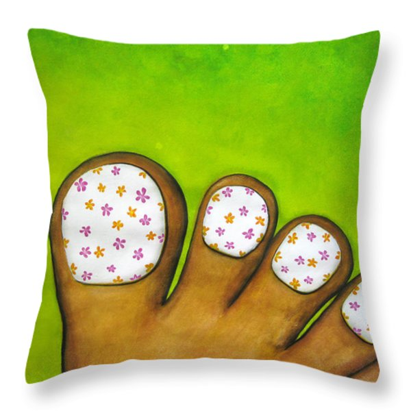 Virtual Pedicure Throw Pillow by Oiyee  At Oystudio