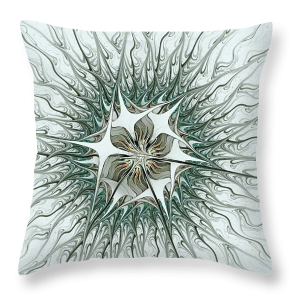 Virus Throw Pillow by Anastasiya Malakhova