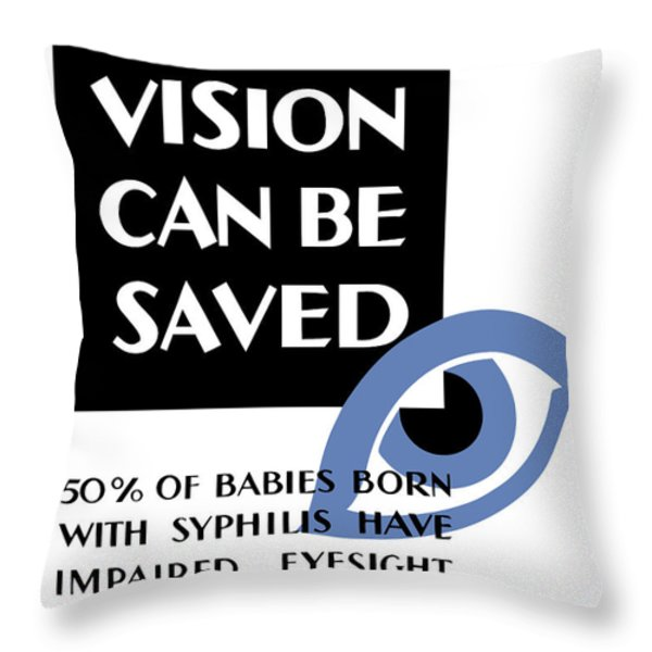 Vision Can Be Saved Wpa Throw Pillow by War Is Hell Store