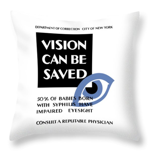 Vision Can Be Saved - Wpa Throw Pillow by War Is Hell Store