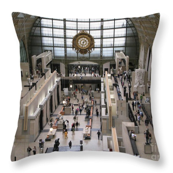 Visiting The Musee D'orsay Throw Pillow by Ann Horn