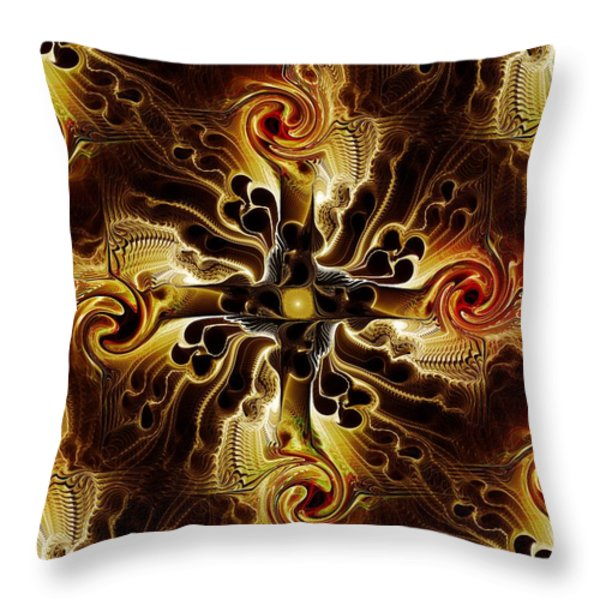 Vital Cross Throw Pillow by Anastasiya Malakhova