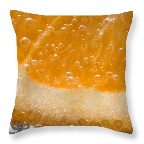 Vitamin C Throw Pillow by Susan Candelario
