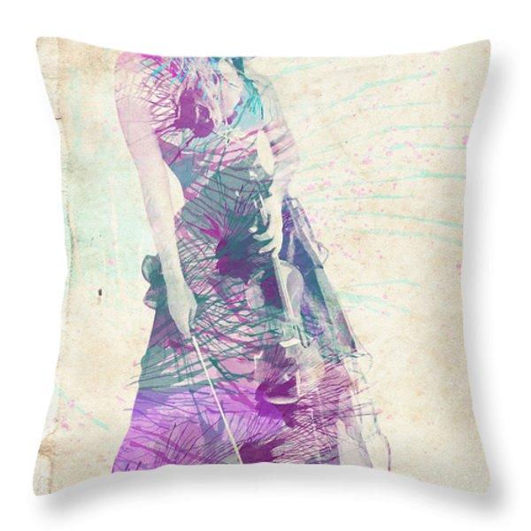Viva La Vida Throw Pillow by Linda Lees
