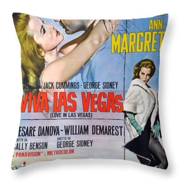 Viva Las Vegas Throw Pillow by Nomad Art And  Design