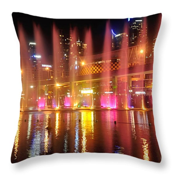 Vivid Sydney By Kaye Menner -  Vivid Aquatique Throw Pillow by Kaye Menner