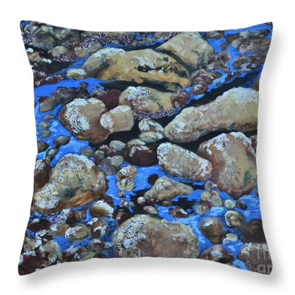 Voice Of The Stones Throw Pillow by Carla Stein