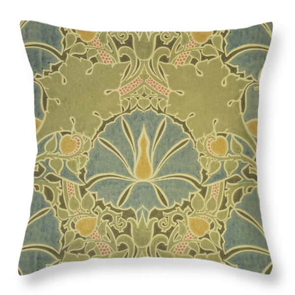 Voisey the Saladin Throw Pillow by William Morris
