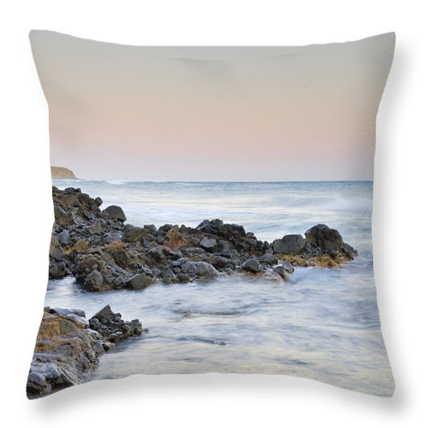 Volcanic Rocks Throw Pillow by Guido Montanes Castillo