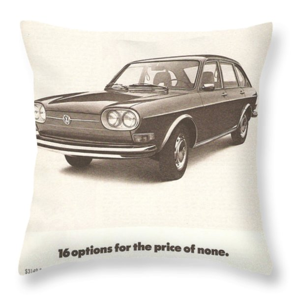 Volkswagen 411 Throw Pillow by Nomad Art And  Design