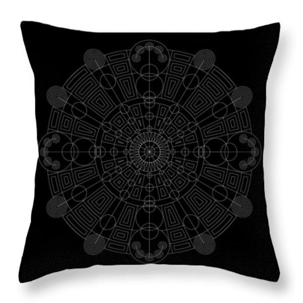 Vortex Inverse Throw Pillow by DB Artist