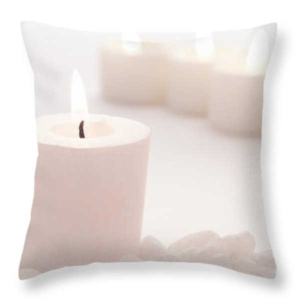Votive Candle Throw Pillow by Olivier Le Queinec