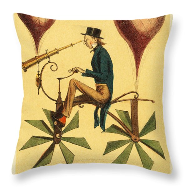 Voyage A La Lune Throw Pillow by Digital Reproductions