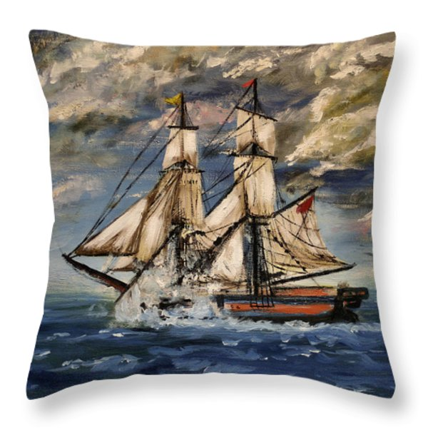 Voyage Of The Cloud Chaser Throw Pillow by Isabella F Abbie Shores LstAngel Arts