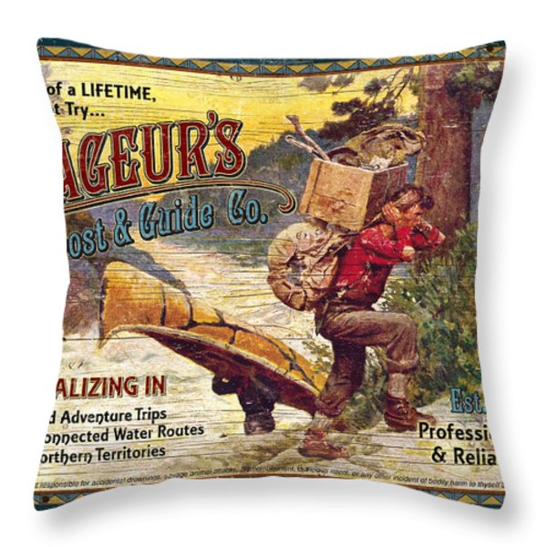 Voyageurs Outpost Throw Pillow by JQ Licensing