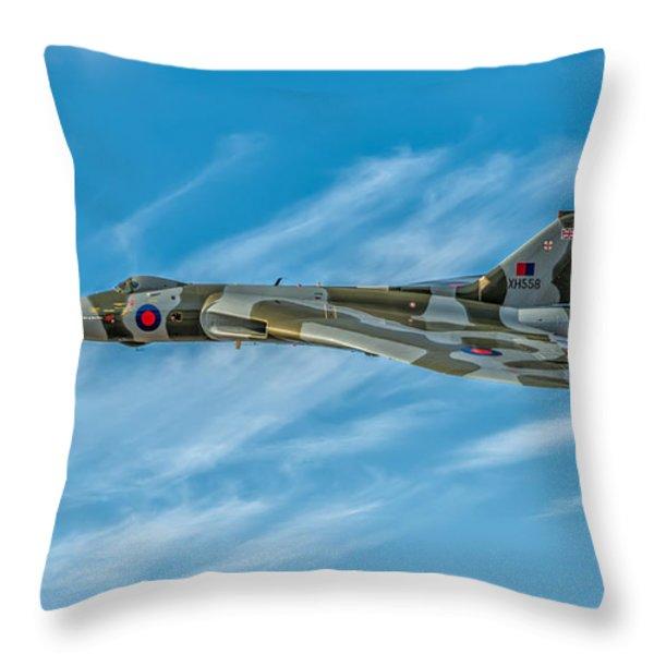 Vulcan Bomber Throw Pillow by Adrian Evans