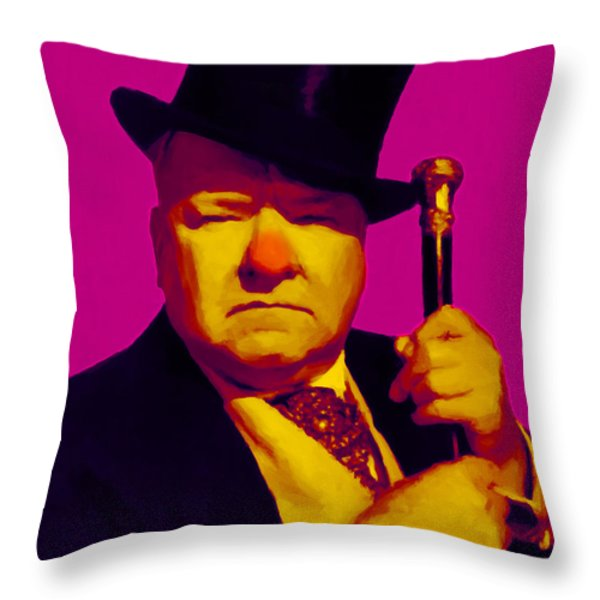 W C Fields 20130217 Throw Pillow by Wingsdomain Art and Photography
