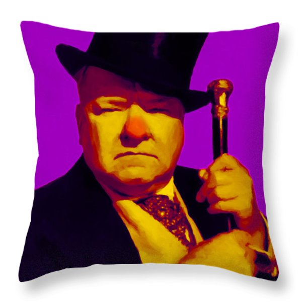 W C Fields 20130217m30 Throw Pillow by Wingsdomain Art and Photography