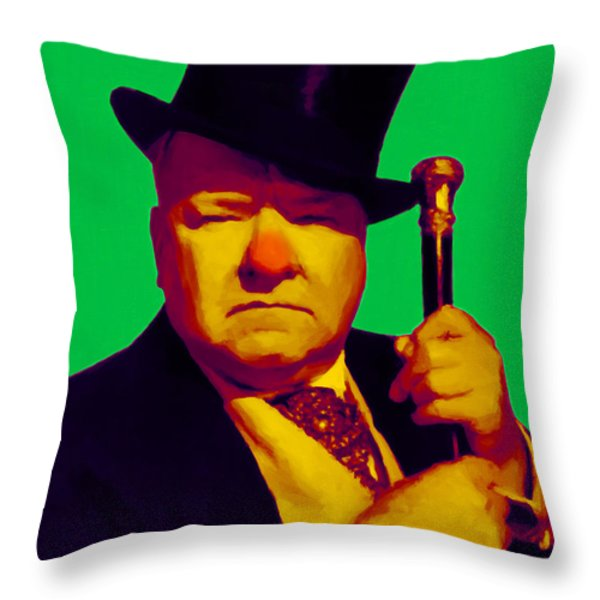 W C Fields 20130217p180 Throw Pillow by Wingsdomain Art and Photography