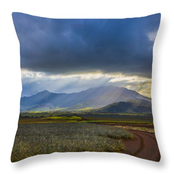 Waianae Mountains of Oahu Hawaii Throw Pillow by Diane Diederich
