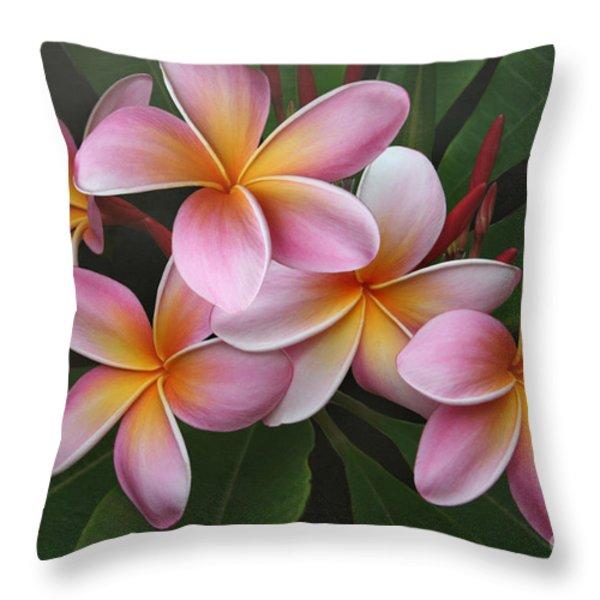 Wailua Sweet Love Throw Pillow by Sharon Mau