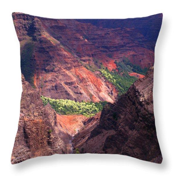 Waimea Canyon 3 Throw Pillow by Brian Harig