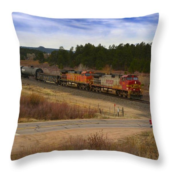 Waiting At The Gates Throw Pillow by Ken Smith