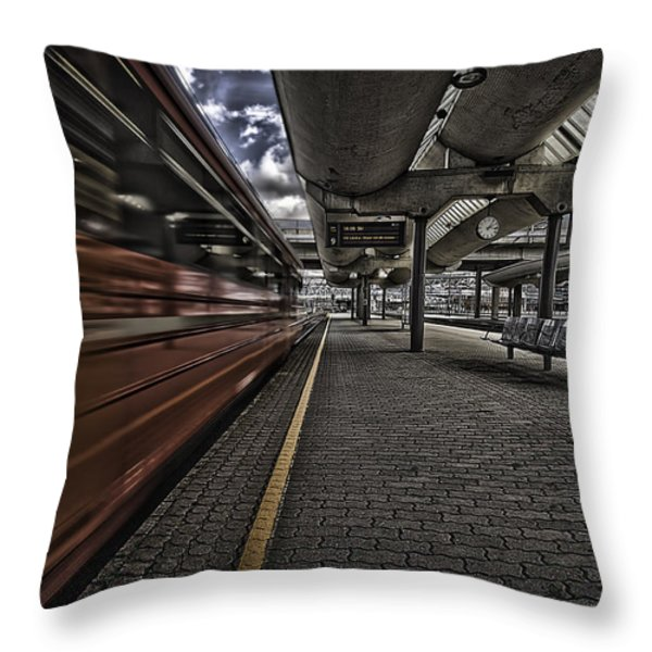Waiting Throw Pillow by Erik Brede