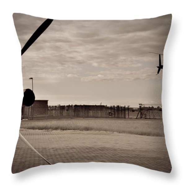 Waiting For Action Throw Pillow by Paul Job