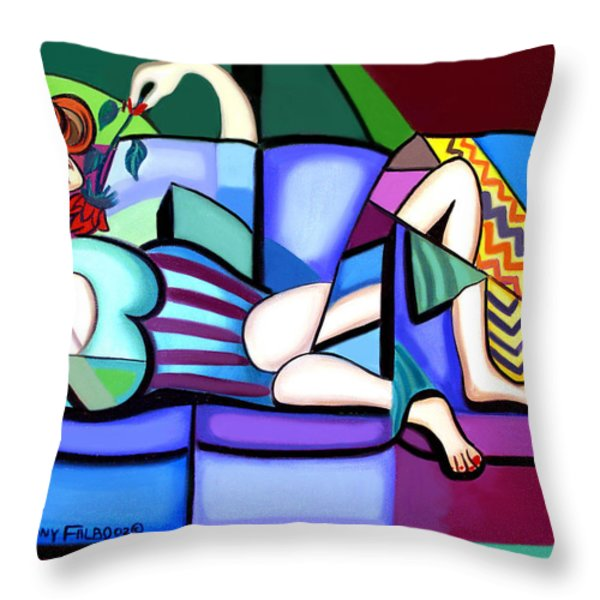 Waiting For Billy Throw Pillow by Anthony Falbo