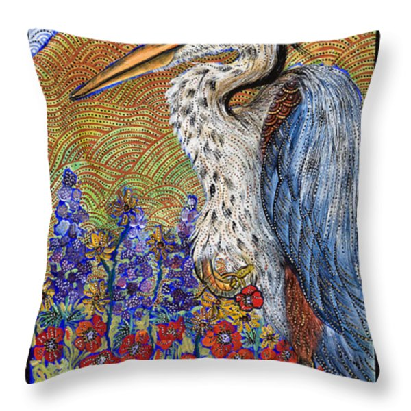 Waiting For Dinner Throw Pillow by Melissa Cole