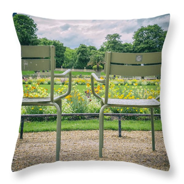 Waiting For Lovers Throw Pillow by Nomad Art And  Design