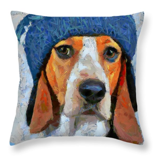 Waiting For Santa Throw Pillow by Dragica  Micki Fortuna