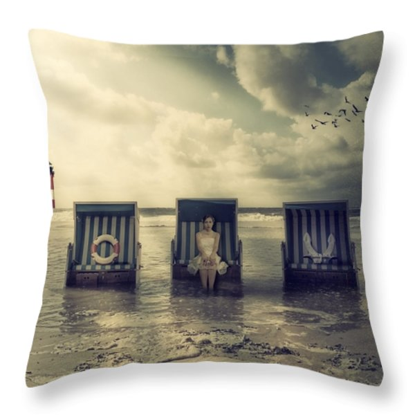 waiting for the flood Throw Pillow by Joana Kruse