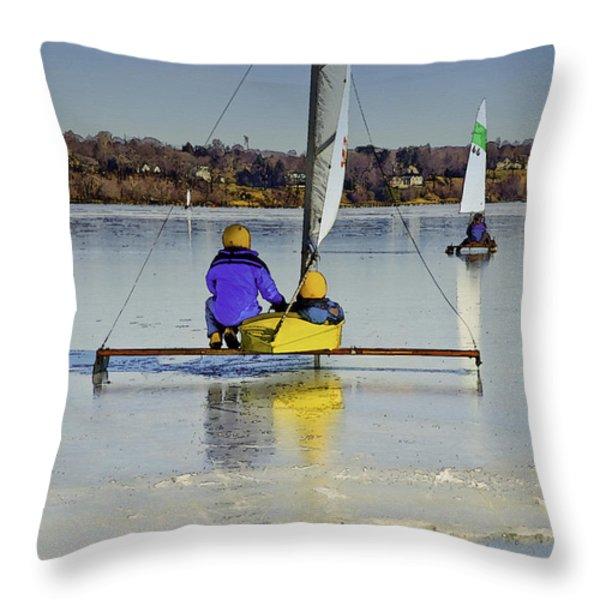 Waiting For Wind Throw Pillow by Gary Slawsky