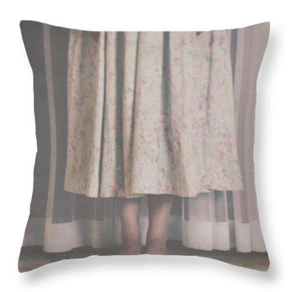 waiting ghost Throw Pillow by Joana Kruse