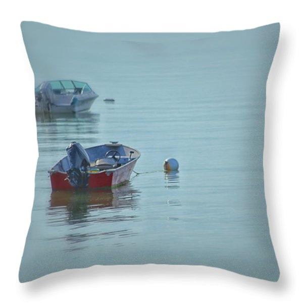 Waiting Throw Pillow by Karol Livote