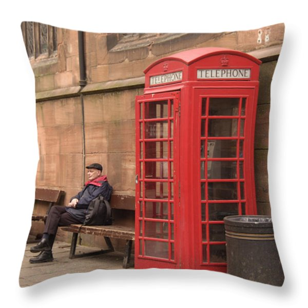 Waiting on a Call Throw Pillow by Mike McGlothlen