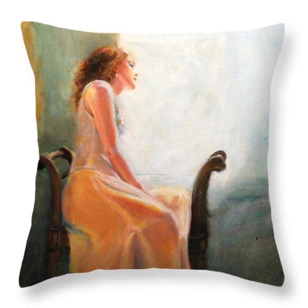 Waiting Throw Pillow by Sarah Parks