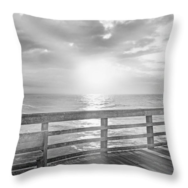 Waking Coast Throw Pillow by Betsy A  Cutler