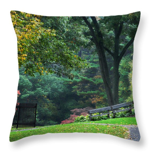 Walk in the Park Throw Pillow by Christina Rollo
