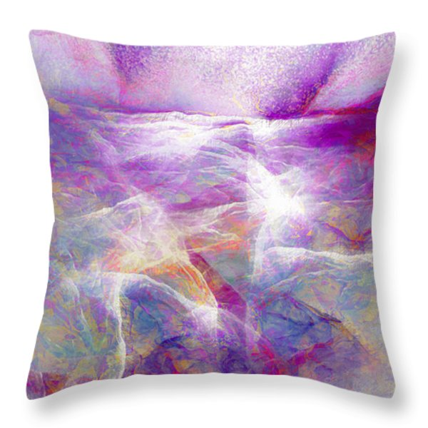 Walk On Water - Abstract Art Throw Pillow by Jaison Cianelli