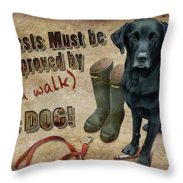 Walk the Dog Throw Pillow by JQ Licensing