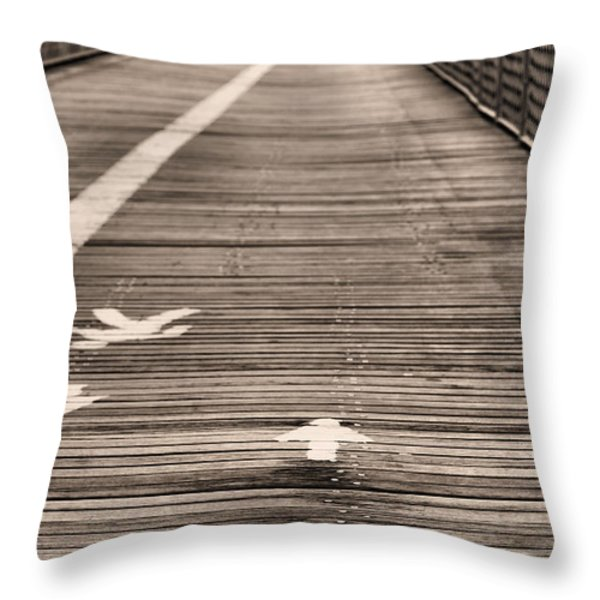 Walk This Way Throw Pillow by JC Findley