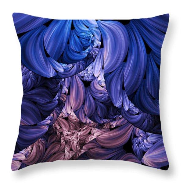 Walk Through The Petals Abstract Throw Pillow by Georgiana Romanovna
