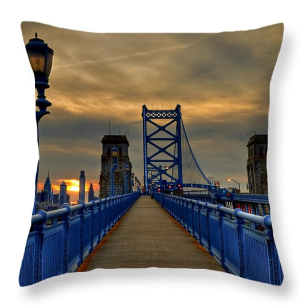 Walk With Me Throw Pillow by Evelina Kremsdorf