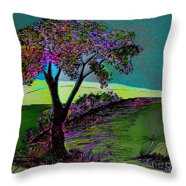 Walk With Me Throw Pillow by Iris Gelbart