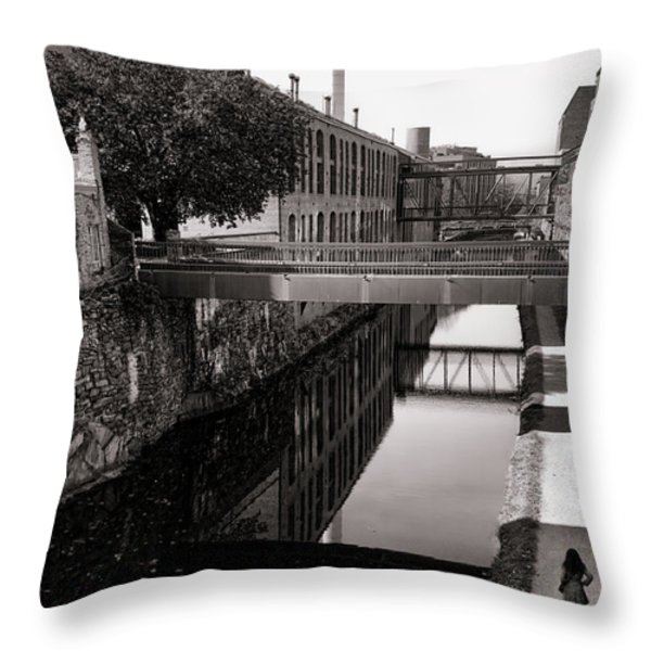 Walking along the C and O Throw Pillow by Olivier Le Queinec