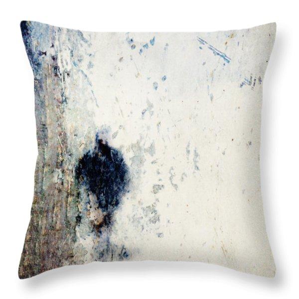 Walking in the Rain Throw Pillow by Carol Leigh