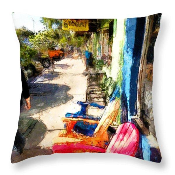 Walking Throw Pillow by Robert Smith